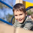 Cute boy on the playground — Stock Photo