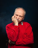 Thoughtful elderly man — Foto Stock
