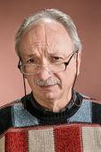眼鏡の先輩男 — ストック写真