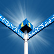 Strategy blvd and success ave - Stock Photo