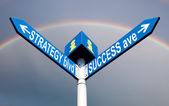 Strategy blvd and success ave — Foto de Stock
