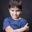 Portrait of a boy with a skeptical look — Stock Photo