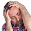 Stock Photo: Middle age msuffering from headache