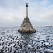 Monument to sunken ships, the symbol of Sevastopol - Stock Photo