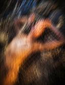 Ruchu rozmycie obrazu naga kobieta — Zdjęcie stockowe