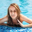 Womin swimming pool — Stock Photo #30169305