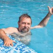 Middle-aged min swimming pool — Stock Photo #30233913