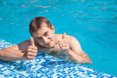 Summers at the poolside — Stock Photo