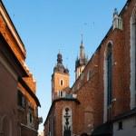 Historic houses in Krakow — Stock Photo