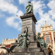Monument of Adam Mickiewicz in Kracow — Stock Photo