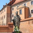 Stock Photo: Statue of Pope John Paul II