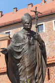 Statue of Pope John Paul II — 图库照片
