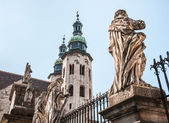 Romanesque church in Krakow — Stock Photo