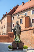 Statue of Pope John Paul II — Stock fotografie