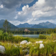 Stock Photo: Panoramof mountain lake in National Park High Tatra
