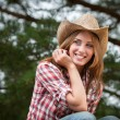 Sexy cowgirl. — Stock Photo
