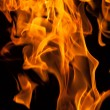 Fire flames on black — Stock Photo