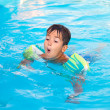 Stock Photo: Little boy in the pool