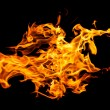 Fire flames on black — Stock Photo #32207139