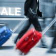 Sale. People with suitcases in hurry. — Stock Photo #33236037