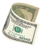 One hundred dollar banknote with clipping path — Stock Photo