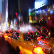 Illumination and night lights of New York City — Stock Photo