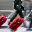 Sale. People with suitcases in hurry. — Stock Photo #33704925