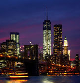 Night at New York City — 图库照片