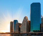 Modern architecture of Manhattan — Stock Photo