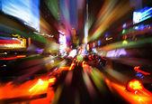 иллюминации и ночные огни нью-йорка — Стоковое фото