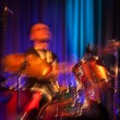 Stock Photo: Abstract drummer concert.