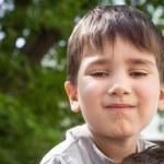 Happy little boy smiling — Stock Photo