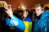 Kiev, Ucrânia - 22 de novembro: protesto em maidan nezalezhno de pessoas — Fotografia Stock