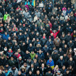 Постер, плакат: KIEV UKRAINE NOVEMBER 22: People protest at Maidan Nezalezhno