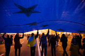 KIEV, UKRAINE - NOVEMBER 22: People protest at Maidan Nezalezhno — Stock Photo