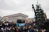 KIEV, UKRAINE - DECEMBER 1: Pro-Europe protest in Kiev — Stock Photo