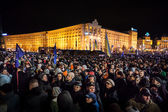 KIEV, UKRAINE - NOVEMBER 29: Pro-Europe protest in Kiev — Stock Photo