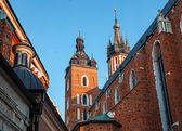 Historic houses in Krakow — Stock Photo
