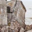 Stock Photo: Half-demolished military fortifications