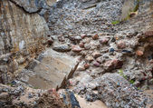 Half-demolished military fortifications — Stock Photo