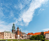 Historic castle in old Krakow — Stock Photo