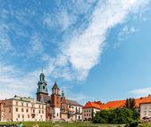 Historic castle in old Krakow — Stock Photo