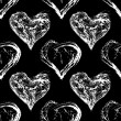Stock Photo: Abstract Valentine heart seamless pattern