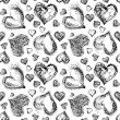 Abstract Valentine heart seamless pattern — Stock Photo