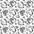 Abstract Valentine heart seamless pattern — Stock Photo #38968841