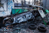 KIEV, UKRAINE - January 20, 2014: The morning after the violent — Photo