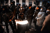 KIEV, UKRAINE - January 20, 2014: Mass anti-government protests — Zdjęcie stockowe