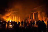 KIEV, UKRAINE - January 24, 2014: Mass anti-government protests — Foto Stock