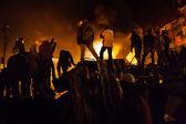 KIEV, UKRAINE - January 24, 2014: Mass anti-government protests — Foto de Stock