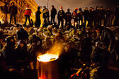 KIEV, UKRAINE - January 24, 2014: Mass anti-government protests — Stock Photo